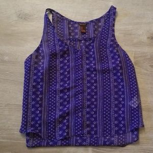 Forever 21 Tops - Forever 21 Blue Chiffon Tank Top